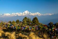 Panorama d'Annapurna images libres de droits