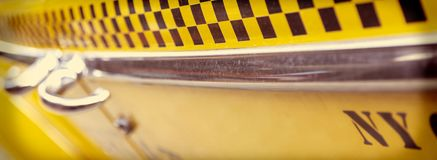 Panorama d'annata del taxi di New York immagine stock