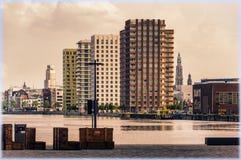 Panorama d'Anvers, Belgique photos libres de droits