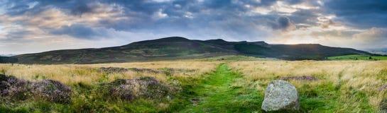 Panorama d'arête de Simonside Photo stock