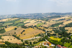Panorama d'Arcevia Photos libres de droits