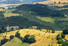 Panorama d'Arcevia Photographie stock libre de droits