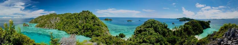 Panorama d'archipel d'Ampat de rajah Images libres de droits