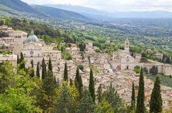 Panorama d'Assisi, Italie Photo libre de droits