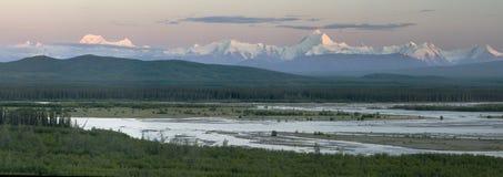Panorama d'aube d'été Image libre de droits