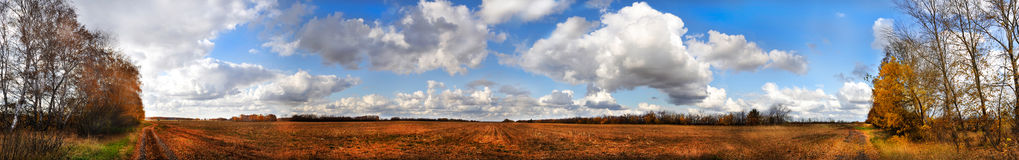 Panorama d'automne Photo libre de droits
