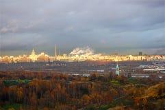 Panorama d'automne de Moscou Photographie stock libre de droits