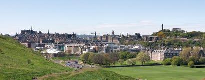 Panorama d'Edimbourg Images libres de droits