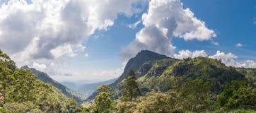 Panorama d'Ella Gap dans Sri Lanka image libre de droits