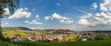 Panorama d'Erlinsbach Photographie stock