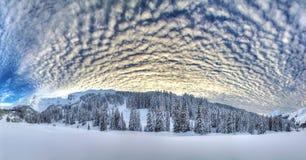 Panorama d'hiver photographie stock