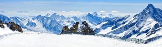 Panorama d'hiver Image libre de droits