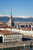 Panorama d'hiver de Turin, Italie Photo libre de droits