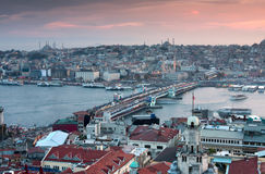 Panorama d'horizon d'Istanbul Photographie stock libre de droits