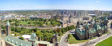 Panorama d'horizon d'Ottawa Images stock