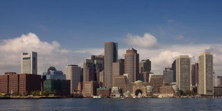 Panorama d'horizon de Boston Photo stock