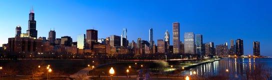 Panorama d'horizon de Chicago photographie stock libre de droits