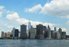 Panorama d'horizon de Lower Manhattan Images libres de droits