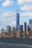 Panorama d'horizon de Lower Manhattan Photographie stock libre de droits
