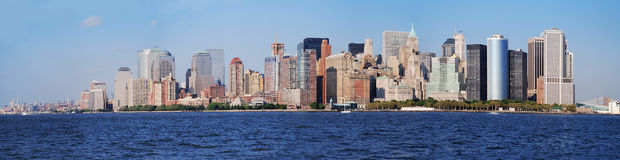 Panorama d'horizon de Manhattan, New York City Photographie stock