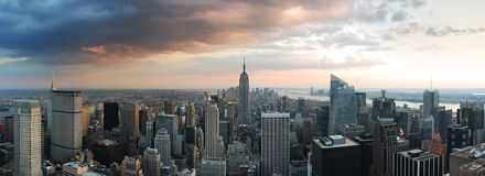 Panorama d'horizon de New York City Image libre de droits