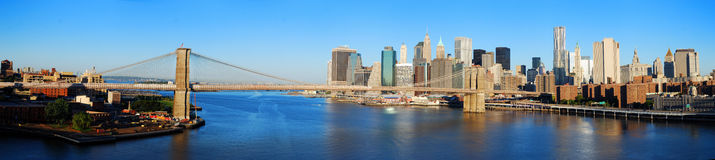 Panorama d'horizon de New York City Image libre de droits