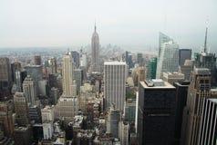Panorama d'horizon de New York City Manhattan Photos stock