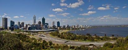Panorama d'horizon de Perth Images libres de droits