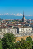 Panorama d'horizon de Turin Images libres de droits