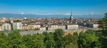 Panorama d'horizon de Turin Photo stock