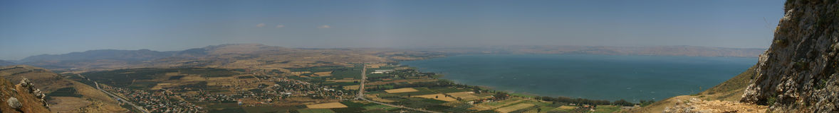 Panorama d'horizontal de la Galilée Photographie stock libre de droits