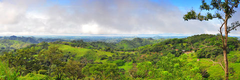 Panorama d'horizontal du Costa Rica photographie stock libre de droits