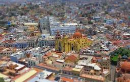panorama d'Inclinaison-décalage de Guanajuato, Mexique Image libre de droits