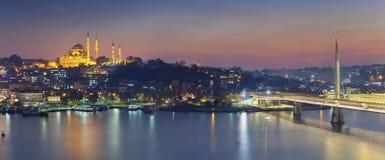 Panorama d'Istanbul Photos libres de droits