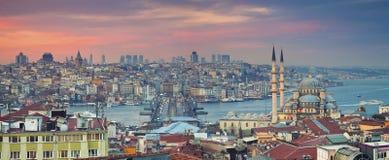 Panorama d'Istanbul Photos stock