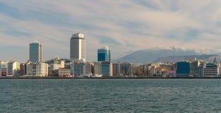 Panorama d'Izmir dans le jour ensoleillé Image libre de droits