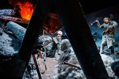 """Panorama 3D nannte """"Moscow 1941 Counteroffensiveâ€- am """"Russia, mein Historyâ€- historischer Park Lizenzfreie Stockbilder"""