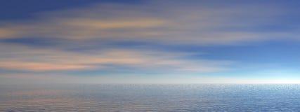 panorama d'océan Photographie stock libre de droits
