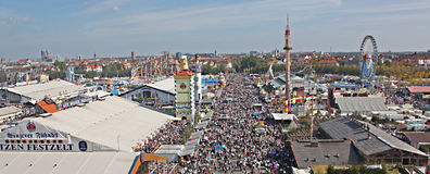Panorama d'Oktoberfest Image stock