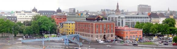 Panorama d'Oslo photos stock