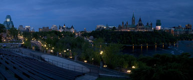 Panorama d'Ottawa Photo libre de droits