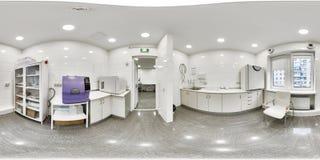 panorama 360 d'un établissement médical Image stock