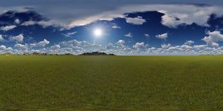 Panorama d'un ciel bleu avec l'horizon de montagnes Image stock