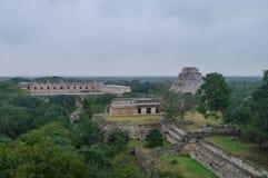 Panorama da área arqueológico Uxmal Imagem de Stock Royalty Free