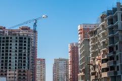 Panorama da área urbana nova imagens de stock