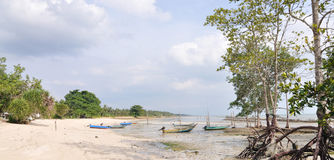 Panorama da aldeia piscatória Fotografia de Stock Royalty Free