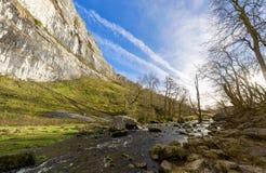 Panorama da angra de Malham em um dia do ` s do inverno Fotos de Stock Royalty Free