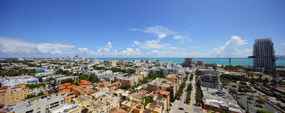 Panorama da antena de Miami Beach Foto de Stock Royalty Free