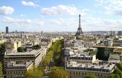 Panorama da antena de Paris fotografia de stock