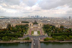 Panorama da antena de Paris Foto de Stock Royalty Free